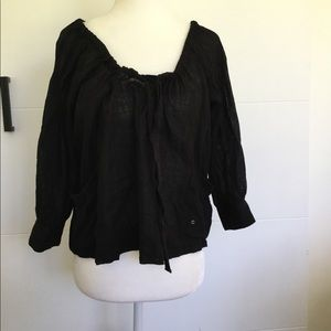 Free people cropped peasant blouse